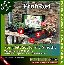 Anzucht-Set PRO - automatische Bewässerung. Topfplatte + Wasserwanne + Kapillarmatte