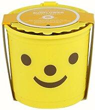 Anzucht-Set Smile & Smile. Für die Kinder glücklich fühlen Ihre Pflanzen angebaut. Größe 8,25cm Ø x 7,5cm Höhe.