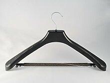 Anzug und Kostümbügel, Kleiderbügel mit Steg und Schaum, 48cm, schwarz, NEU, 50 Stück