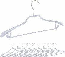 Anzugbügel, 10er Set, breite Schulterauflage,