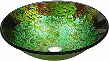 ANZZI rundes Glasgefäß, Badezimmer-Waschbecken