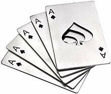 AoAo Poker-Öffner, 5 Stück, Spaten, Poker,