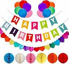 AOBETAK Geburtstagsdeko, 1 Happy Birthday
