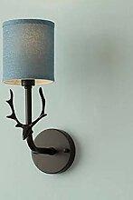 aoeiuv Modern Einfach Wandlampe LED Metall Stoff