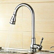 AOEIY Wasserhahn Küchen Mischbatterie Kupferchrom