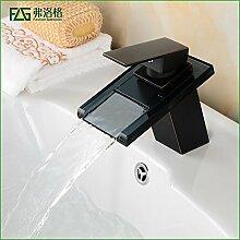 AOEIY Wasserhahn Küchen Mischbatterie Schwarzes