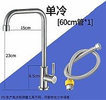 AOEIY Wasserhahn Küchen Mischbatterie Single kalt