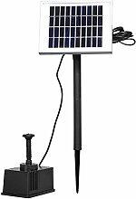 AOFENG 2W Teichpumpe Solar Bürstenlose Solarpumpe Solar Wasserspiel Teichpumpe Fontäne Pumpe Springbrunnen für Gartenteiche