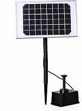 AOFENG 5W Teichpumpe Solar Bürstenlose Solarpumpe Solar Wasserspiel Teichpumpe Fontäne Pumpe Springbrunnen für Gartenteiche