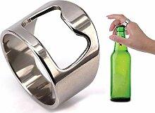 Aofocy Edelstahl Ring Flaschenöffner