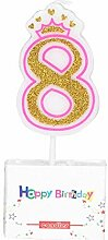 Aoforz 0-8 Jahre Geburtstag Kerze Neue Mädchen