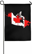 AOHOT Garten Flaggen,Canada Flag Map Graphic Home