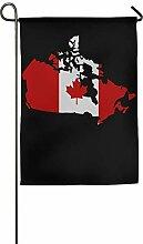 AOHOT Garten Flaggen,Canadian Map with Canada Flag