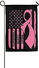 AOHOT Garten Flaggen,Flag Breast Cancer Awareness