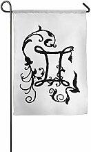 AOHOT Garten Flaggen,Gemini Zodiac Tattoo Garden