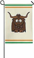 AOHOT Garten Flaggen,Interesting Cartoons for Yaks