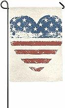 AOHOT Garten Flaggen,Love America Garden Flag