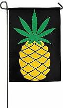 AOHOT Garten Flaggen,Pineapple Weed Graphic Home