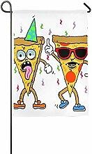AOHOT Garten Flaggen,Pizza Be with You Garden Flag