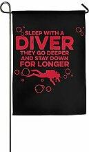 AOHOT Garten Flaggen,Sleep with A Scuba Diver -