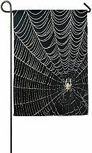AOHOT Garten Flaggen,Spider Web Garden Flag Indoor