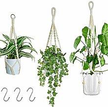 AOIWE 3 Stück Seil hängen Pflanzer hängen