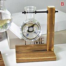 AoJuy Tischlampe Glühbirne Glas Hydrokulturvase