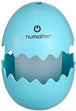 AOKARLIA Kreativ Luftbefeuchter Nachtlicht Bunt Led Aromatherapie-Maschine Karikatur Usb Stumm SprüHen Desktop Zuhause BüRo Geschenk Baby , blue