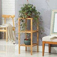 AOLI Bambus-Blumenregal mit