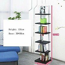 AOLI Bücherregal Wandregale 7 Reifen Bücherregal
