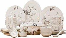 AOLI Keramik Geschirr Set Jingdezhen Geschirr (56