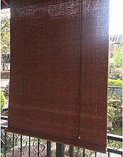 AOLI Rollo Bambus Sichtschutz Sonnenrollo
