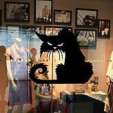 Aoligei Halloween Schwarz Katze Glas Fenster Dekoration Wandaufkleber