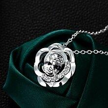 Aoligei Herbst Silber Verziert Zirkon Halskette