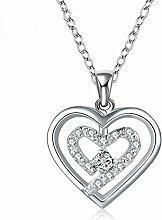 Aoligei herzförmige Diamant paar Halskette