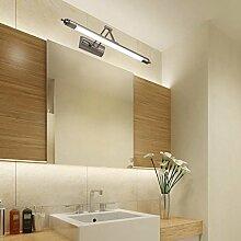 Aoligei LED Spiegelfrontlicht Spiegelschranklichter Badezimmer modern einfach Spiegellichter Europäer WC Badezimmerlichter Spiegel Schwarz 56cm