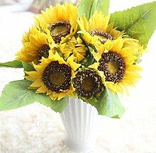 Aoligei Sonnenblumen-Sträuße Simulation Blumen Heimtextilien gefälschte Blumen