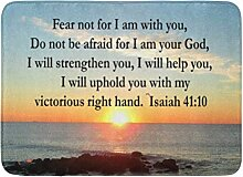 AoLismini Badematte Prophet schöne Jesaja 41 10