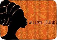 AoLismini Badematte Teppich, Afrikanerin mit