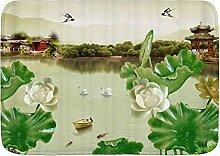 AoLismini Badematte Teppich, Chinese Garden Green