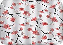 AoLismini Badematte Teppich, Chinese Stil rote