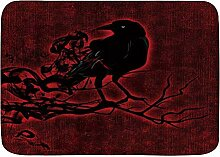 AoLismini Badematte Teppich, Horror Crow Branch