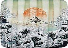 AoLismini Badematte Teppich, Japanischer Ozean