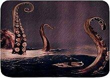 AoLismini Badematte Teppich, Riesen Ozean Monster