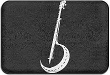 AoLismini Banjo Silhouette rutschfeste Außen- /