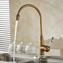 Aolomp Küchenarmaturen Antik Bronze Wasserhahn