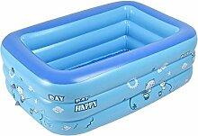Aolvo Aufblasbares Schwimmbecken für Kinder Baby, Family Pool Schwimmbad Swimmingpool Planschbecken (120x90x35cm)