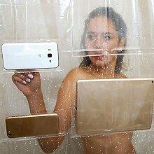 Aolvo Duschvorhang-Einsatz mit Taschen,