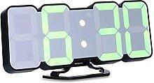 Aolvo LED Digital Uhr, Fernbedienung Voice Control