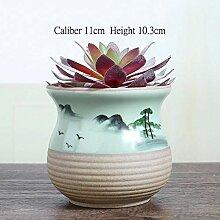 AOM Chinesische Tuschmalerei Bonsai Sukkulenten